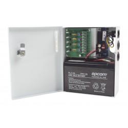 Fuente de Poder Profesional | 12 VCD @ 4A | Compatibilidad con Batería de Respaldo / Voltaje de Entrada 96-264 VCA