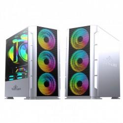 Gabinete / Gaming / Haizen 2500 / Mimcro ATX / C/T 3V ARGB / Mesh / Blanco