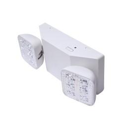 Luz LED de Emergencia / 150 Lúmenes / Luz Fría / Batería de Respaldo Incluida / Botón de Test