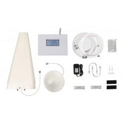 Kit Amplificador de Señal Celular | Doble Banda | 3G y 4G LTE | 70 dB de Ganancia Máx. | Cubre hasta 500 m2.