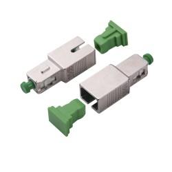 Atenuador Óptico | Macho-Hembra | Conector SC/APC | 15dB | Para Fibra Monomodo