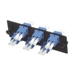 Placa Acopladora de Fibra Optica FAP | Con 6 Conectores LC Duplex (12 Fibras) | Para Fibra Monomodo OS1/OS2 | Color Azul