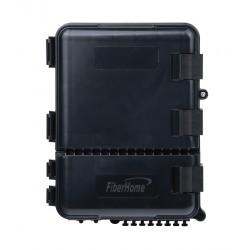 Caja de Distribución de Fibra Óptica | 24 Empalmes | 8 acopladores | SC/APC | Simplex | Exterior | IP55 | Color Negro