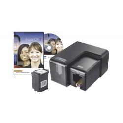 KIT de Impresora de Tarjetas Inyección de Tinta | Incluye Cartucho y Software | Una Cara | Impresión Borde a Borde